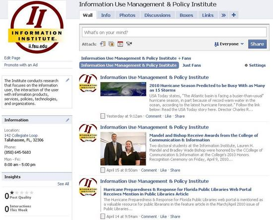 Institute Facebook image